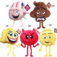 Wholesale Ems Toys Kids - Newest Emoji Stuffed Animals Plus Doll 2017 Emoji Cartoon Character Plush Toys 20-25cm Kids Stuffed Soft Toy EMS Fast Shipping