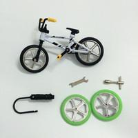 Wholesale Mini Bike Bmx Wholesale - 2016 Excellent Quality bmx toys alloy Finger BMX Functional kids Bicycle Finger Bike mini-finger-bmx Set Bike Fans Toy Gift