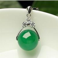 Wholesale Snake Jade Pendant - Tibet Silver Green Jade Malay jade pendant Necklace Girl Boy Pendants Silver necklaces Bridal Jewelry for wedding dress