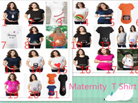 Wholesale Wholesale Maternity Plus Sizes - Funny Maternity Pregnancy Shirts T Shirt Maternity Fashion for Pregnant Women Plus Size Print Maternity Tees 2017 Summer Newest