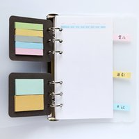 Wholesale Filler Adhesive - Wholesale- 2 pcs pack 6 Holes A5A6 Binder Planner Filler Sticky Notes Diario Note-taking Planning Adhesive Planner's Portable Sticky Notes