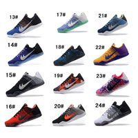 Wholesale Men Shoes Style Star - 2016 Hot Style Kobe 11 Elite EM Mamba Day Kobe XI ZK11 AEC Low Elite Athletic Cheap KB11 Sports Shoes Training Sneakers Size7-12