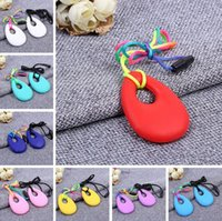 Wholesale Silicone Teeth Necklaces Baby Teether Toys Food Grade Soft Teething BPA Free Toddler Infant Tooth Training Chewing Molars Massager Pendant