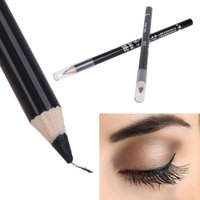 Wholesale Best Pencil Eye Liners - Wholesale- High Quality Black Eye Liner Smooth Waterproof Cosmetic Makeup Eyeliner Pencil best quality eyeliner to eye permanent