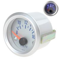 Wholesale Auto Voltage Gauge - Brand New 2 Inch 52mm 8-16V Blue Light Voltage Meter Gauge Voltmeter for Auto Car CEC_511