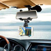 rückspiegel gps halterungen großhandel-Universal Rückspiegel Auto Handy Halter PC Multi Funktion Auto GPS Handy Halter Handy Halterungen Kostenloser Versand