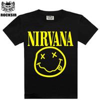 Wholesale nirvana top - Wholesale- 2016 New Fashion Summer design funny tee cute t shirt homme men's Nirvana Pumba women 100% cotton cool tshirt lovely top