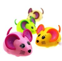 Wholesale Mini Rats - New Hot Colorful Mouse Rat Wind Up Toys Clockwork Toy Baby Kid Running Spring Toy Children Newborn Baby Mini Pet Animal YH1000