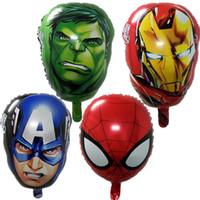 Wholesale baby batman toys - BINGTINA The Avengers foil balloons super hero baby toys hulk Captain America superman batman Iron man spider-man helium balloon