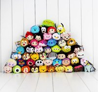 Wholesale Woody Plush - 200 style 9-10CM Tsum Tsum Plush toys elf Screen Cleaner Mickey Duck Alice Elephant Stitch Mermaid Princess Spiderman woody juguetes Dolls