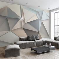 ingrosso sfondi animati-Carta da parati fotografica personalizzata Carta da parati moderna TV 3D Salotto Camera da letto Astratta Arte murale Carta da parati geometrica