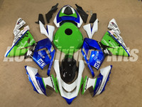 Wholesale Tank Covers For Motorcycles - 3Gifts New 100% New ABS motorcycle Fairings Kit Fit For kawasaki Ninja ZX10R 04 05 ZX-10R 2004 2005 bodywork Set blue green+Tank cover