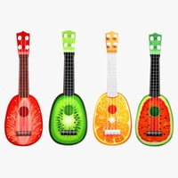 Wholesale Mini Accordion - 4121 mini cartoon guitar fruit especially kerry in 237 children can play an instrument instrument creative toys