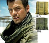 Wholesale desert scarfs resale online - 120pcs Mato Hash Military Windproof Keffiyeh Scarf Ring Scarf Shemagh Head Warp Desert Scarves Neck Tactical thin style R055