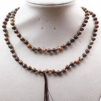 Celtic blossom agate - Min Order is YUTENG mm Blossom Agate Round Beads Necklace inch SAM_7626