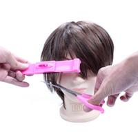 ingrosso trimmer di bocce-Strumenti di taglio dei capelli fai da te Trimmer Clipper Bangs Comb Bangs Cut Supporter Bangs Accessori Ottimo per viaggi d'affari