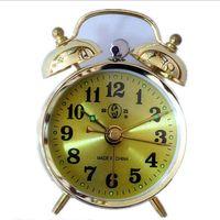 Wholesale Needle Clock - Wholesale-Manually-Wound Mechanical Alarm Clocks Energetically Lazy Retro Metal Mechanical Clockwork Small Alarm Clock