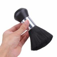 Wholesale Brush Hairdresser - Fashion Barber Neck Duster Soft Brush Sweep Cleaning Brush Broken Hair Brush Hairdresser Haircut Of Stylist Black Hair Salon