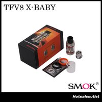 Wholesale Large Capacity Atomizer Tanks - Authentic Smok TFV8 X-BABY Beast Tank Large 4.0ml Liquid Capacity & Adjustable Top Airflow System Innovative Massive Clouds Atomizer