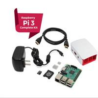 Wholesale Raspberry Computer Pi - Raspberry Pi 3 COMPLETE Starter Kit, Black, 16GB Edition Pi3 Model B Barebones Computer Motherboard 64bit Quad-Core CPU 1GB RA