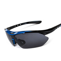 Wholesale motorcycle mirror silver - Professional Polarized Cycling Glasses Bike Goggles Outdoor Sports Bicycle Sunglasses Motorcycle Sport Eyewear 100% UV400 Wholesale