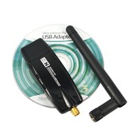 Wholesale Wifi Antennas For Mini Cards - Wholesale- Newest Mini USB 2.0 wi-fi wi fi Wifi Router 2.4G 300Mbps Wireless Adapter 300M Computer LAN Card Antenna Realtek 8191 For Laptop