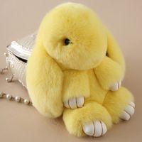 Wholesale Dead Dolls - 2017 New Rex Play Dead Rabbit Key chain 17 Colors Fur Car Backpack Rabbit Doll Pendant Fashion Toys Wallet Handbag Pendant Without Box