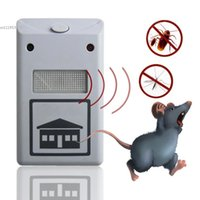 Wholesale Electronic Mouse Magnetic - Electro Magnetic Ultrasonic Riddex Electronic Pest Control Rodent Repeller For Mouse Anti Mosquito Insect EU Plug 66
