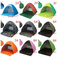 Wholesale Sun Shade Beach Tent - Ship From RU Beach Tent Ultralight Folding Tent Pop Up Automatic Open Tent Family Tourist Fish Camping Anti-UV Fully Sun Shade