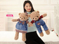Wholesale Teddy Bear Couple Stuffed Animals - 2017NEW55cm teddy bear plush toy doll, teddy bear stuffed animal doll, couple doll pillow lovers birthday gift for girl woman