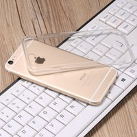 Wholesale Tpu Crystal Shell - Soft Clear TPU Transparent Crystal Hard Acrylic Phone Cases for iphone 7 6 6s Plus 5s Case Cover Fundas Coque Shell Capa