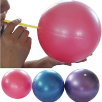 Wholesale Wholesale Exercise Balls - Wholesale-Premium 25cm Exercise Fitness GYM Smooth Yoga Balls Pilates Balance Sport Fitball Proof Balls Anti-slip For Fitness Training