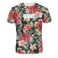 Wholesale Teenagers Casual Shirts - 3D Printing Creative Flower Digital Men's T-Shirts Quick Dry Sports Fashion Men's Tees Teenager Casual T-Shirts Tops Free Shipping