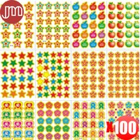 Wholesale Stickers Sheets For Kids - New 100 Sheet Popular Reward Stickers Funny Smile Face Emoji For Notebook Message Diary Kids Prize Gift Creative Lable Sticker