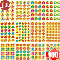 Wholesale New Sheet Popular Reward Stickers Funny Smile Face Emoji For Notebook Message Diary Kids Prize Gift Creative Lable Sticker
