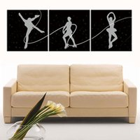 Wholesale People Oil Painting Canvas - 3pcs set Unframed Free Skating Line People Painting On Canvas Giclee Wall Art Painting Art Picture For Home Decor