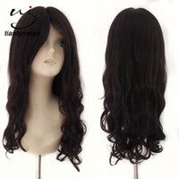 Wholesale Large Cap Remy Wigs - natural looking #99J 20inch big wavy virgin remy human hair full lace wig natural lace front wig with small caps