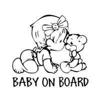 vinil ayı çıkartması toptan satış-Arabaya Bebek Arabalar Üzerinde Güzel Ayı Çıkartmaları Karikatür Ilginç Çekici Araba Sticker Vinil Çıkartması JDM