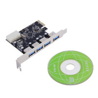 Wholesale Port Vista - 4 Port 5Gbps Superspeed USB 3.0 PCI-E PCI Express Card Adapter for XP Vista Win7 In stock!