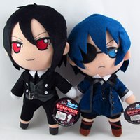Wholesale Anime Plush Black Butler - Free shipping 2piece  a lot Black Butler Phantomhive Kuroshitsuji Sebastian Michael figure Stuffed Plush Toy Doll Plush Figure
