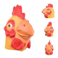 Wholesale Realistic Cocks - Wholesale-High Quality Brand New Animal Mask Full Face Cute Cock Mask for Adults Realistic Latex Mask Theater Costume Props