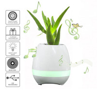 Wholesale Wholesale Flower Pots China - hot selling mini smart flowerpot sensor Bluetooth speaker Flower pot Plastic Green plant pots decorative Macetas pot Playing Smart Music