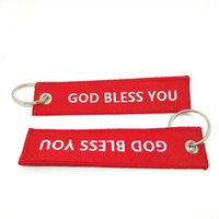 Wholesale Car Gods - Hot Sale New Arrive Promotion 3pcs Remove Luggage Tag Label God Bless You Before Flight Keychain