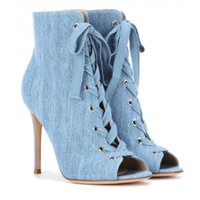 Moda Suede Lace Up Strappy Ankle Gladiator Botas High Heels Hollow Out Peep Toe Sandálias Bombas Mulheres Demin Sandálias Botas
