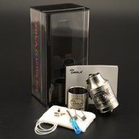 Wholesale wholesale metal works - 100% Original Tesla Clapton RDA with Extra Glass Tube Vaporizer Airflow System Creates huge clouds and works Fit 510 Mods DHL Free