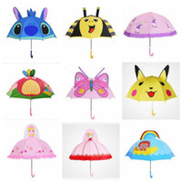 Wholesale Play Slides Kids - Newest 18 Inch Kindergarden Kids Umbrellas Cute Cartoon Portable Umbrellas For Girls Boys Seaside Playing Parasol For Age 2-6