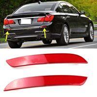 Wholesale Alpina Bmw - 2x Red Lens Rear Bumper Reflector Warning Lights Strips Cover For BMW F02 F03 F04 7-Series 730i 740i 750i 760i ALPINA B7 #W096