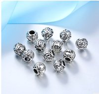 Wholesale zodiac charms wholesale pandora - Fits Pandora Bracelets 30pcs 12 Signs of the Zodiac Silver Charm Bead Loose Beads For Wholesale Diy European Sterling Necklace Women
