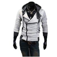 Wholesale Standard Com - Wholesale- 9 cores M-6XL 2016 Hoodies Homens Moletom Masculino Agasalho Com Capuz Jacket Casual Masculino Casacos Com Capuz moleton Assassi
