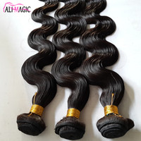 Wholesale loose deep wave human braiding hair for sale - Group buy Ali Magic Brazilian Hair Weave Bundles Natural Human Hair Peruvian Loose Wave Remy Human Hair Braiding Weft quot Malaysian Indian